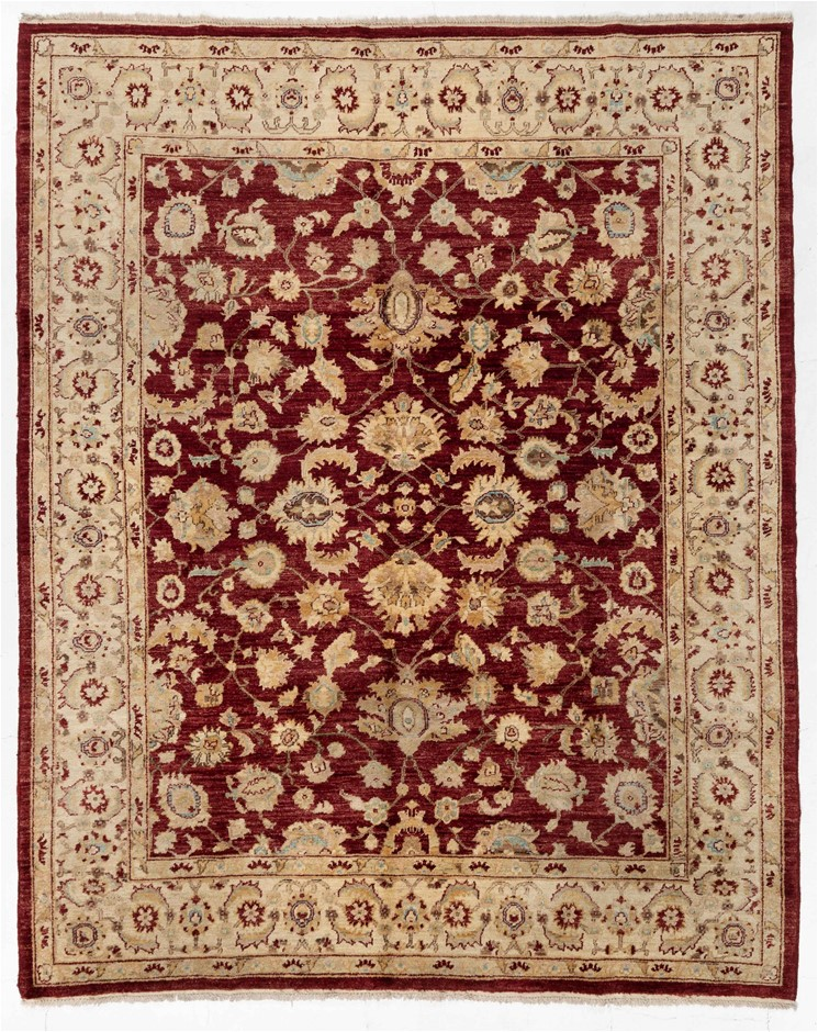 Afghan Hezari Hand Knotted Pure Wool Pile Size (cm): 194 x 245