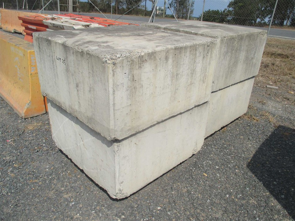 Qty 4 x Concrete Block / Counter Weight