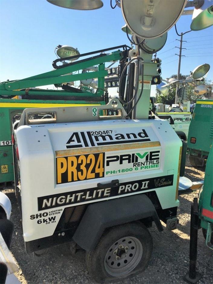 2012 Allmand Nite-Lite Pro II 5,000W Diesel Lighting Tower - Brisbane