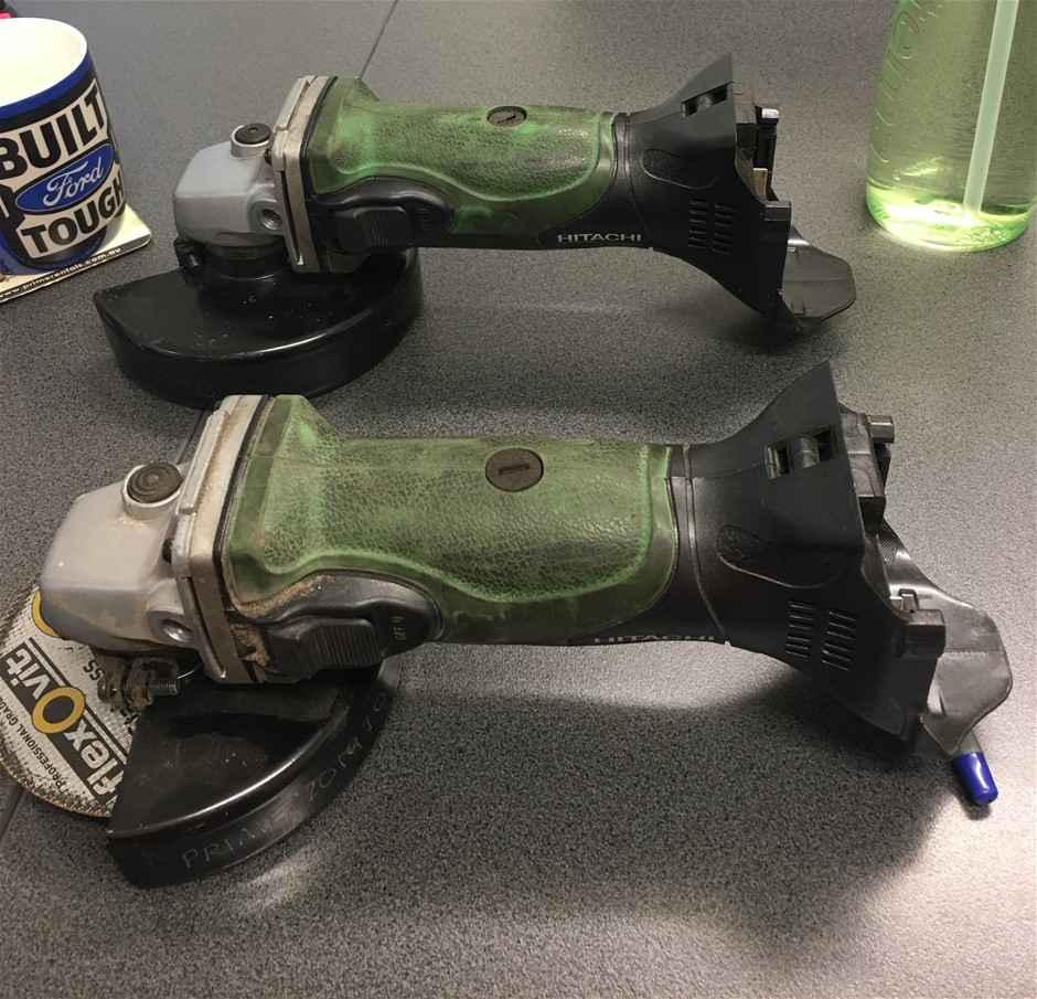 "2x Hitachi G18DSL(S) 5"" Cordless Angle Grinders - Gladstone"