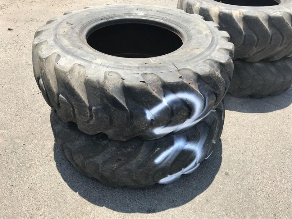 2x Grader tyres, 175-25 12PR