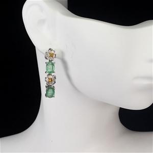 Amazing Genuine emerald & sapphire Drop
