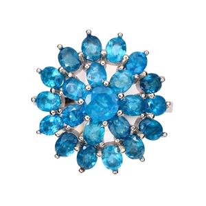 Beautiful Genuine Apatite Ring.