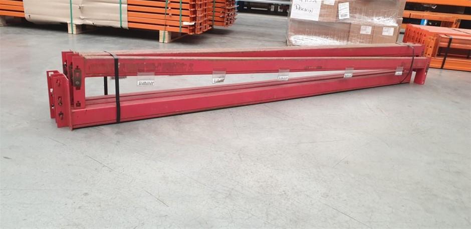 6x Dexion beams 2591mm x 83 with 1000kg per pallet capacity