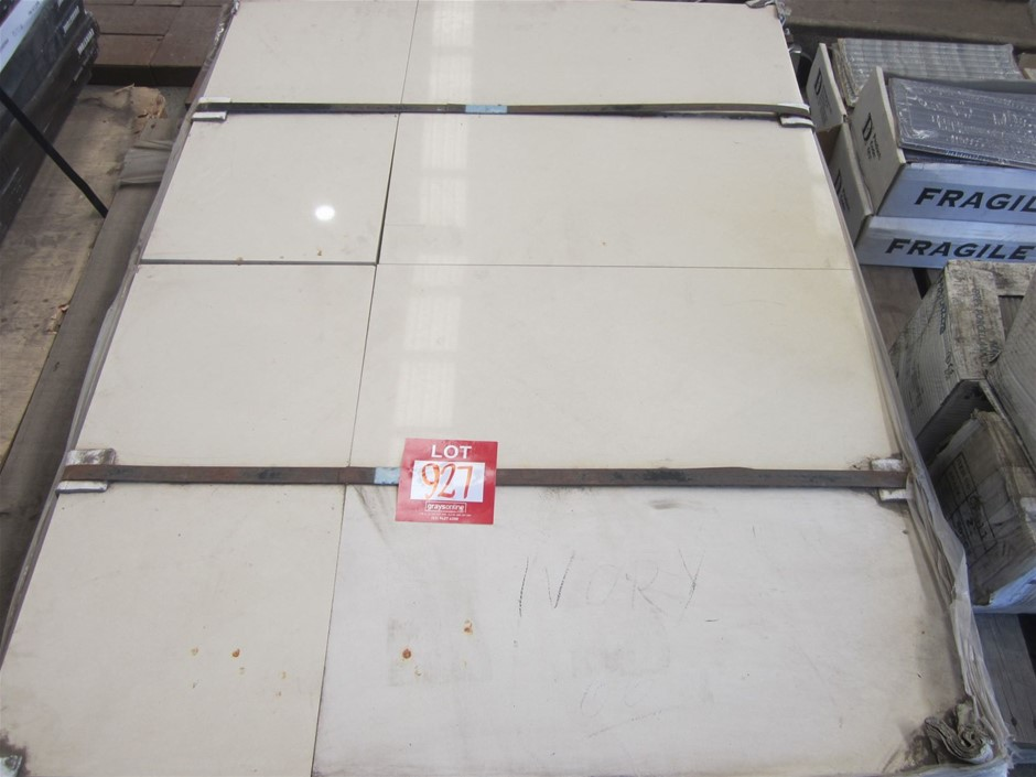 Pallet of approximately 66 Caesarstone Tiles in Ivory.