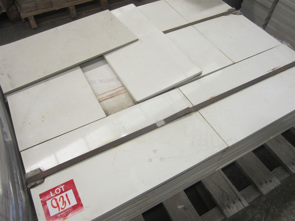 Pallet of 66 Caesarstone tiles. 600mm x 300mm x 20mm THICK.