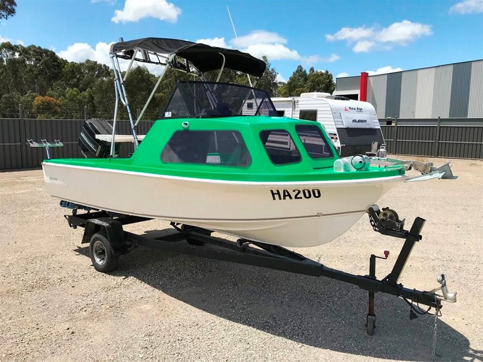 Cuddy Cabin Mono Hull Fibregalss Boat with Mercury 70hp