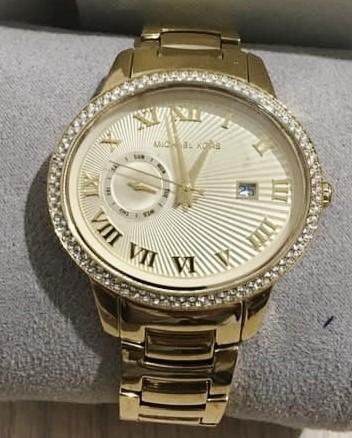 Luxury Michael Kors Couture 'Whitley' diamante ladies watch.