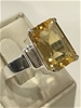 Truly Magnificent 7.25Ct Citrine Solitaire Ring  Size P 1/2 (8)