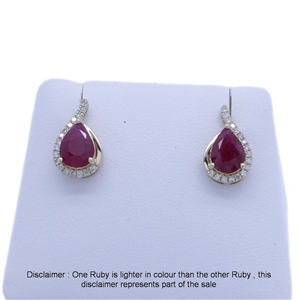 9ct Yellow Gold, 2.55ct Ruby and Diamond