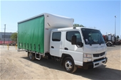 Unreserved 2015 Fuso Canter 815 Curtainsider Dual Cab Truck