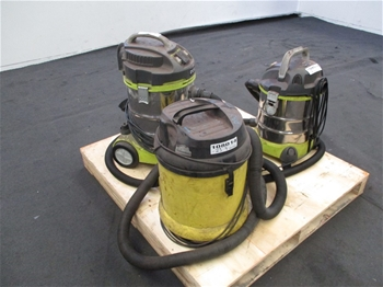 Qty 3 x Wet/Dry Vacuums