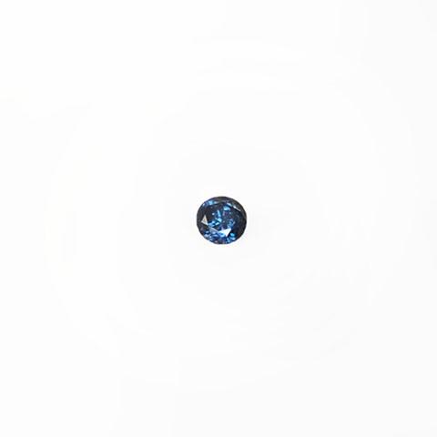 0.26ct Round brilliant cut blue diamond
