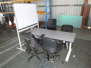 Office Table, Chairs and White board