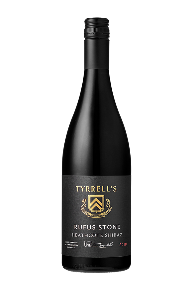 Tyrrell's `Rufus Stone` Shiraz 2018 (6 x 750mL) Heathcote, VIC