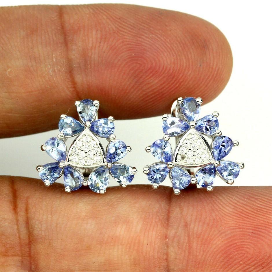 Delightful Pear Cut Tanzanite Earrings