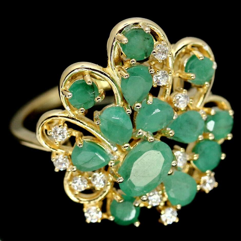 Devine Zambian Oval Emerald Ring. Size 'N'
