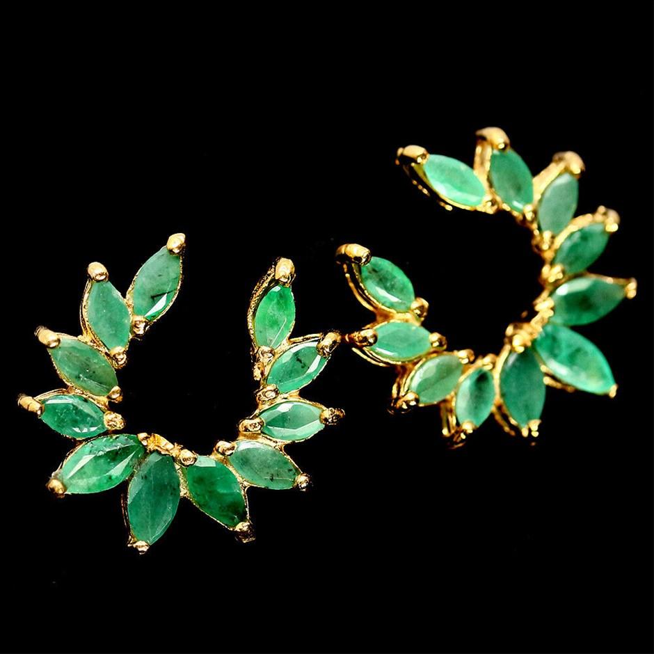 Beautiful Zambian Emerald Earrings