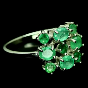 Stunning Green Emerald Ring (Size 'R')