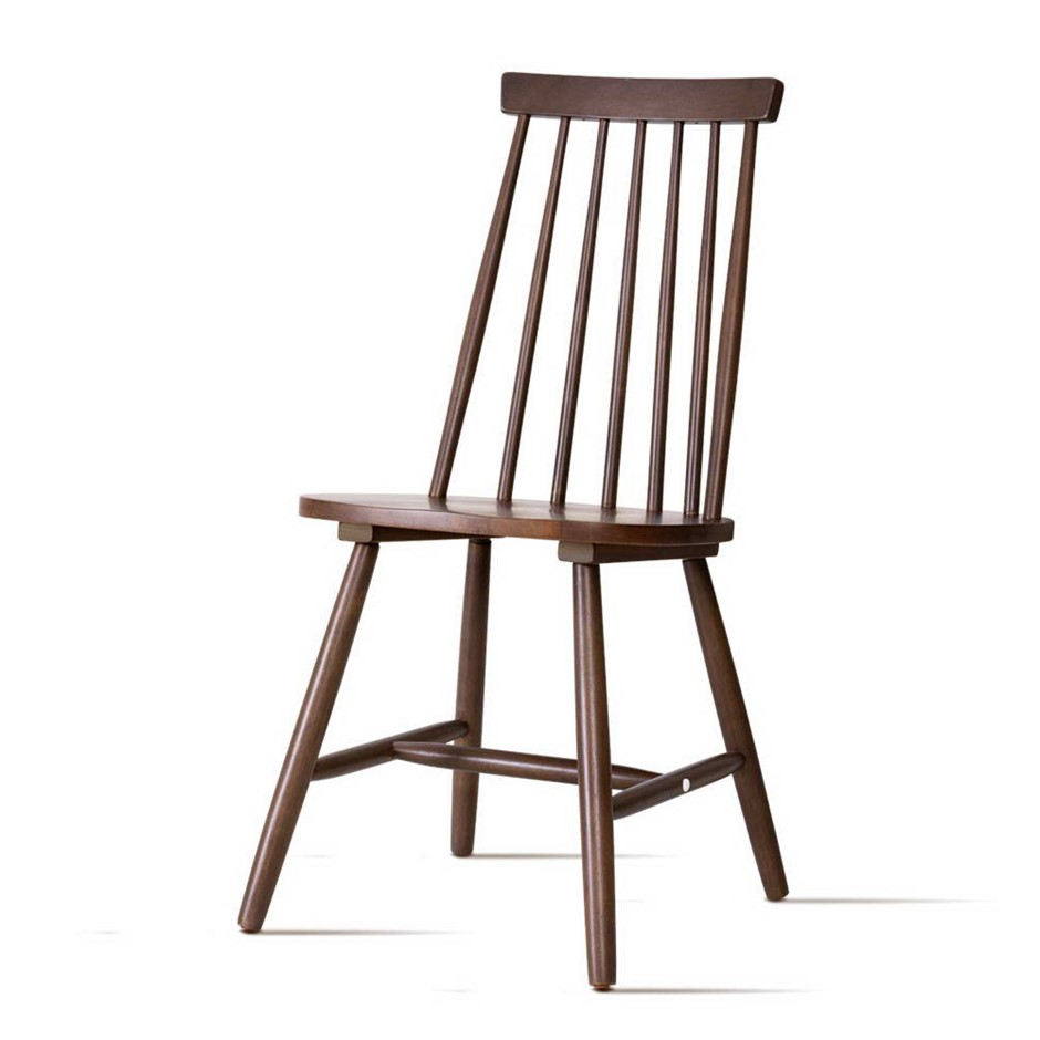 Artiss Dining Chairs Kitchen Chair Rubber Retro Cafe Brown Wooden Seat x2