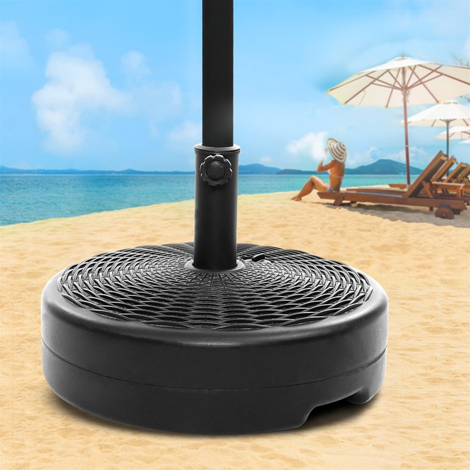 Instahut Outdoor Pole Umbrella Stand Base Pod Sand/Water Patio Cantilever