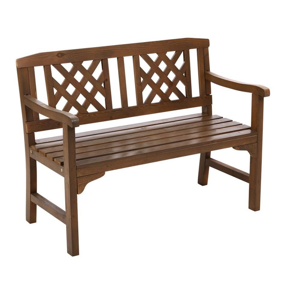 Gardeon Wooden Garden Bench Seat Patio Timber Outdoor Lounge Chair
