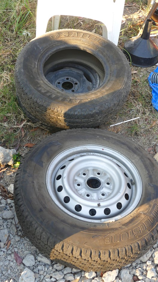 Qty 3 x assorted Utility Tyres including 2 with Rims