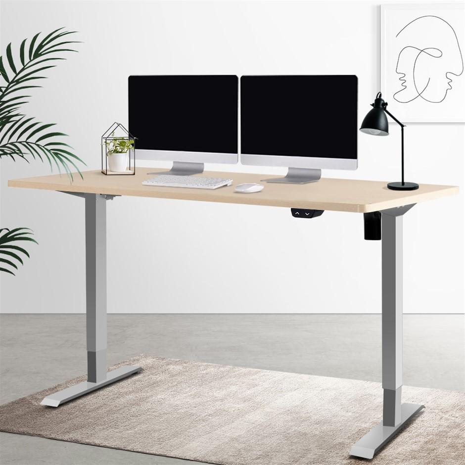 Artiss Standing Desk Height Adjustable Computer Table Motorised 140cm