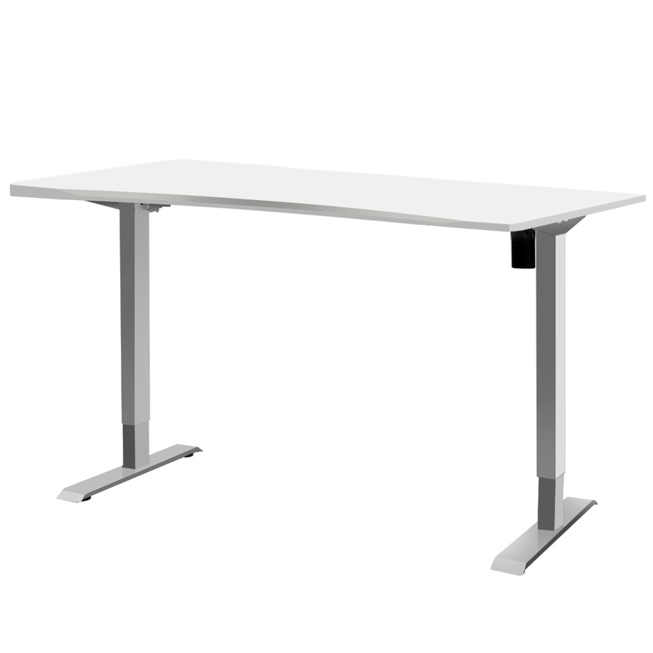 Artiss Standing Desk Height Adjustable Motorised 140cm Curved Desk Top