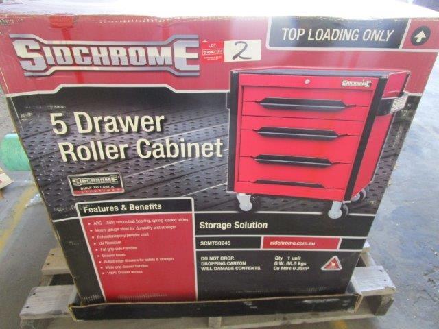 Sidchrome 5 Drawer Roller Cabinet