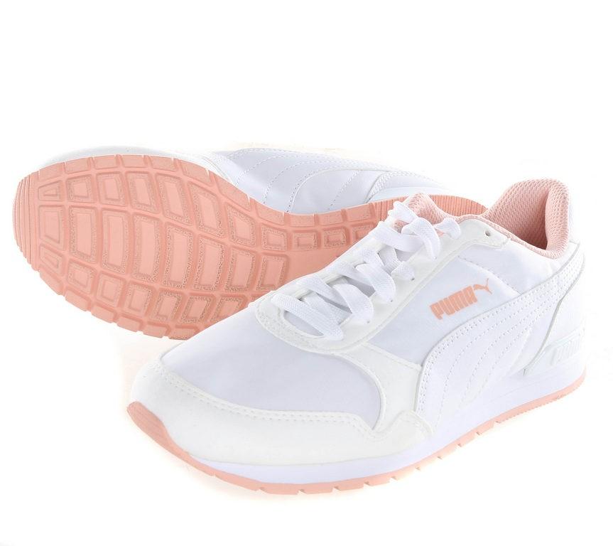PUMA Ladie`s Soft Foam Sneakers, UK Size 5, White/Peach Buyers Note - Disco