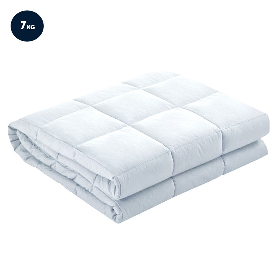 Laura Hill Weighted Blanket Heavy Quilt Doona 7kg - White