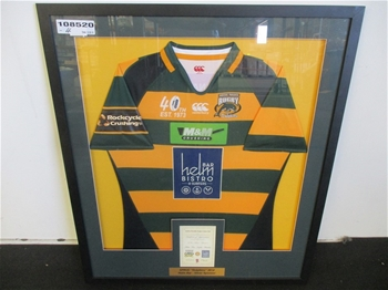 Framed 2014 Surfers Paradise Dolphins Rugby Jersey