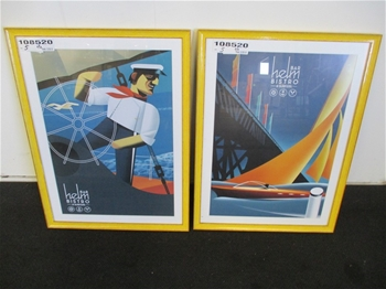 Qty 2 x Framed Nautical Prints