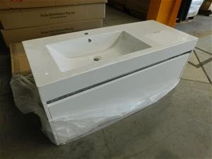 1 x Unused Single Basin Vanity Cabinet