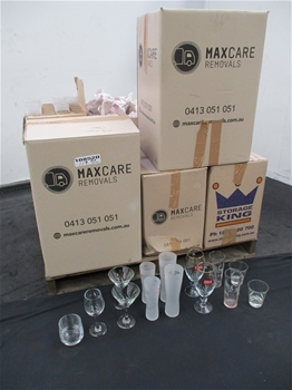 Large Quantity of Various Drinking Glasses