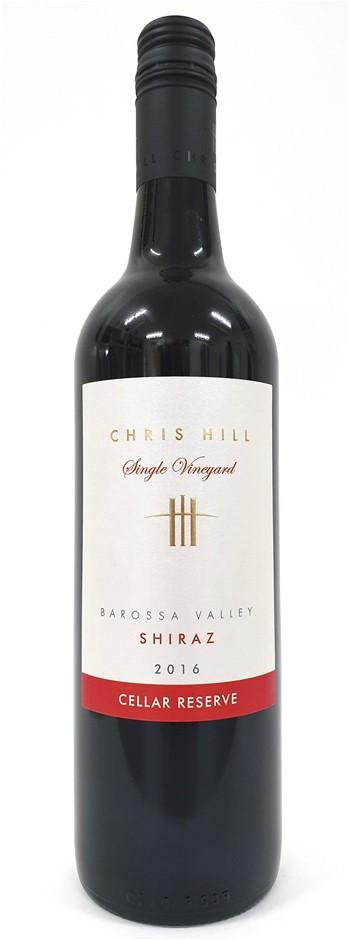 Chris Hill Cellar Reserve Barossa Valley Shiraz 2016 (12 x 750mL) SA