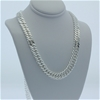 Genuine solid Sterling Silver very heavy curb chain necklace 68 cm