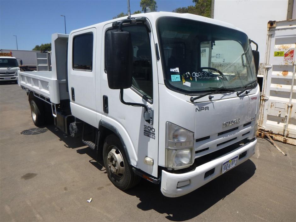 2010 Isuzu NPR 300 4 x 2 Cab Chassis Truck