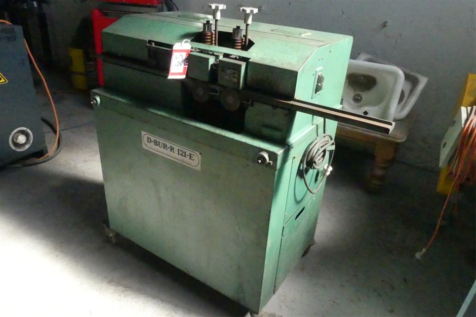 Falls Metal Products 121-E D-BURING MACHINE