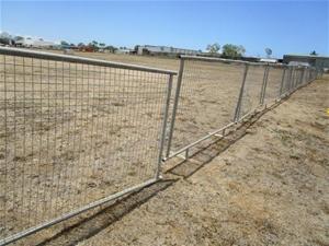 1 x Galvanised Leg Fence Panel