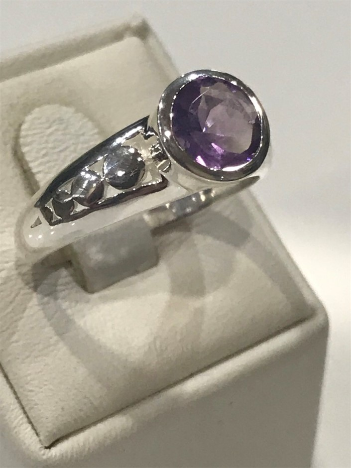 Truly Magnificent 2.50ct Amethyst Ring Size N (7)