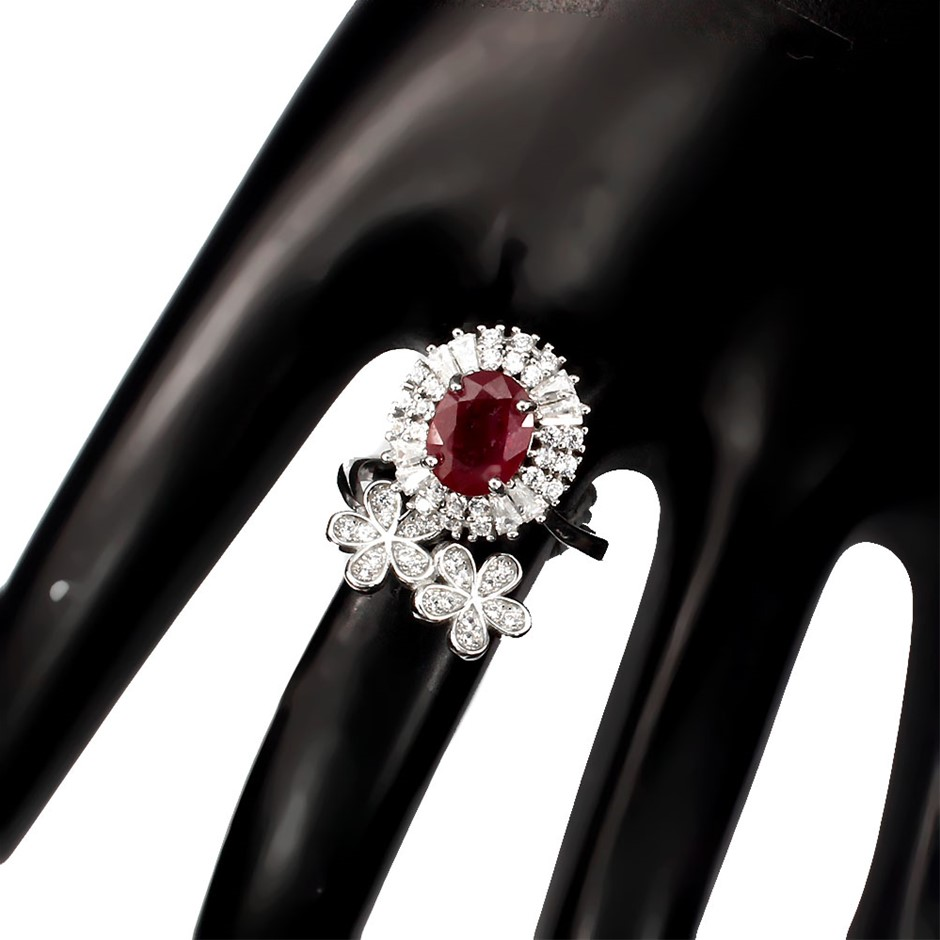 Gorgeous Unique Genuine Ruby Ring.
