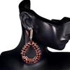 Striking Genuine Red Garnet & Spinel Hoop Earrings