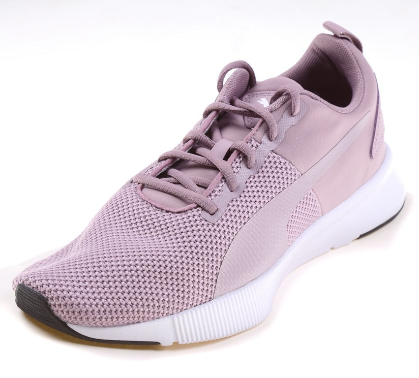 PUMA Women`s Flyer Runners, Size 5.5, Pink/Black/White. Buyers Note - Disco
