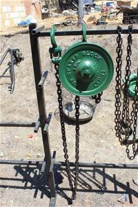 Antique Chain Block Yale