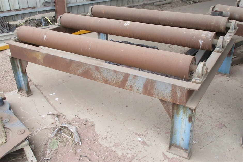 2x Steel Fabricated Rollers / Conveyors