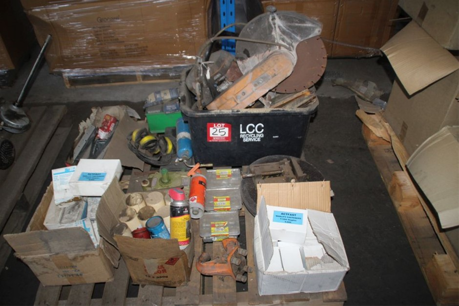 Pallet Assorted Work Shop Sundries