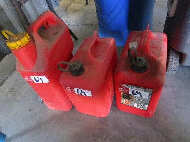 3 x Plastic Fuel Containers