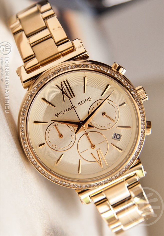 Ladies new Michael Kors Couture NY 'Sophie' stunning chrono watch